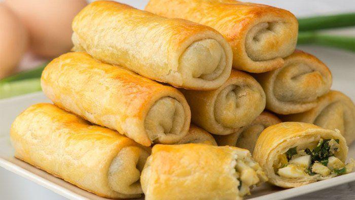 Пирожки с луково-яичной начинкой из заварного теста. Скоро, когда пойдет зеленый лук рецепт станет мега актуален! – В РИТМІ ЖИТТЯ