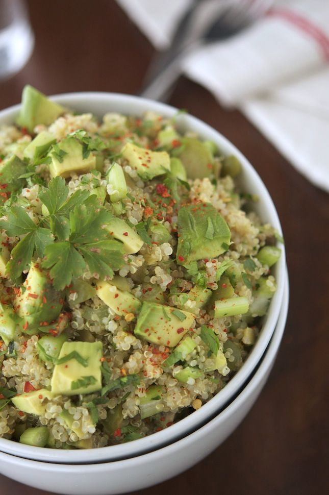 Green Quinoa Salad by theironyou #Salad #Quinoa #Healthy