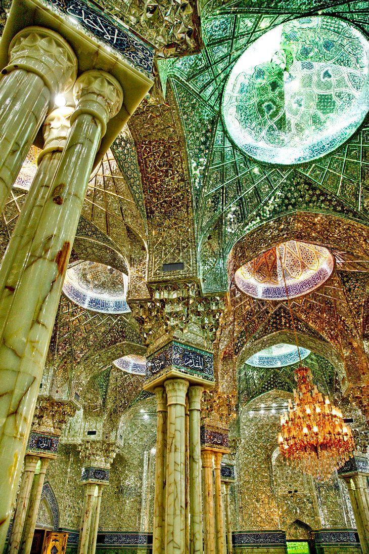 Inside the shrine of Imam Ali