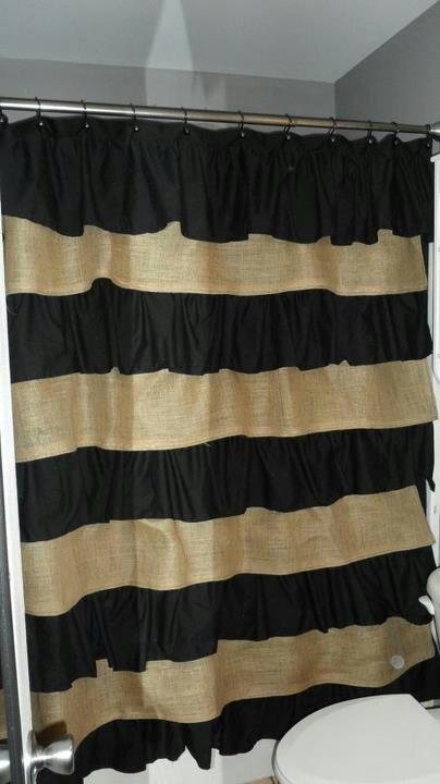 Cotton and burlap shower curtain.. love it!