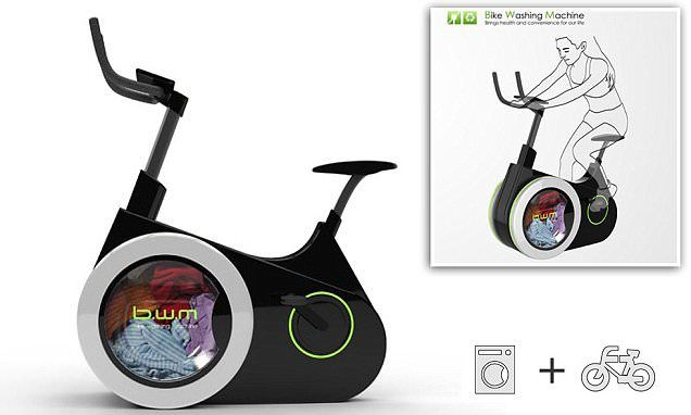 Now that is a spin cycle: Exercise bike will also wash your clothes