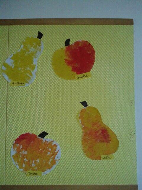 Ovoce,tupovani houbickou