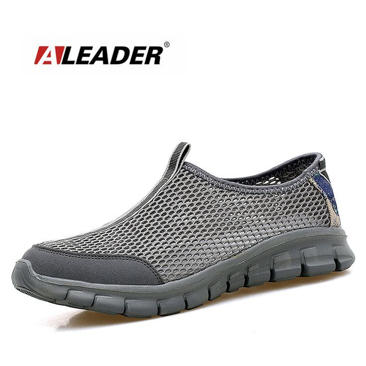 ALEADER Breathable Men Shoes Casual Lightweight Walking Shoes Slip On Men Water Shoes Mesh Male Shoes zapatillas deporte #Affiliate
