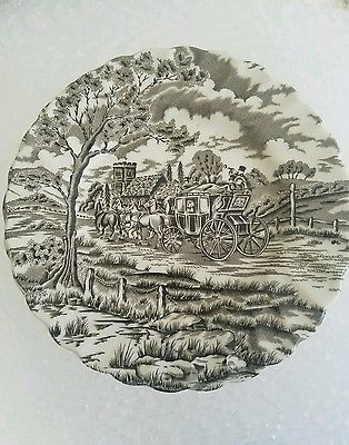 """Antique Royal mail Staffordshire plates 6"""" 1/8 set of (9)"""