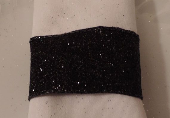 Black Napkin Holder Black Napkin Ring by ModernClassicbyCarol