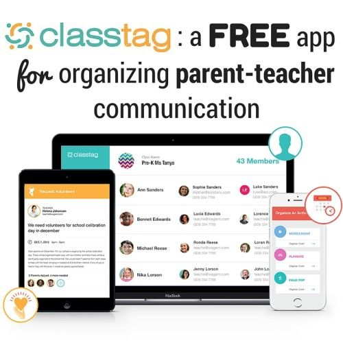 Class Tag A free app for organizing parentteacher
