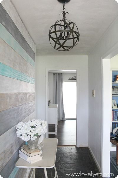 "Love this, but don't think the Target orb option (15"") would be big enough for our entry... Hmmm. / DIY foyer"