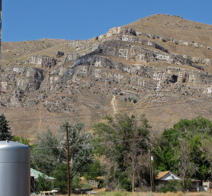 Arco, Idaho. --  Number Hill;  each graduating class goes up & puts its year up there.  One is missing.....