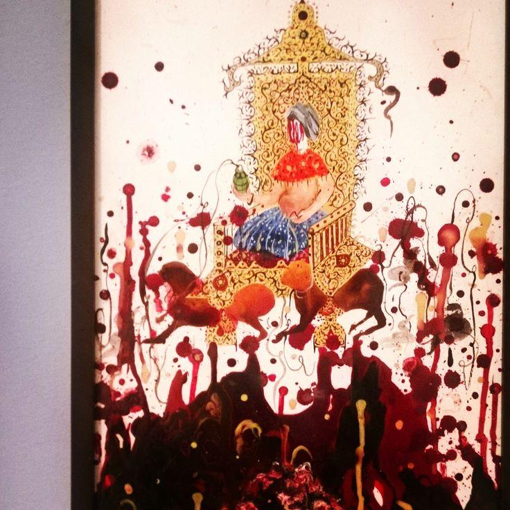 """A faceless leader and an activation device: unpalatable bloodshed."" | Shiva Ahmadi, Iran Herbert F. Johnson Museum of Art"