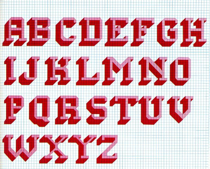 Capital Letters In Cross Stitch