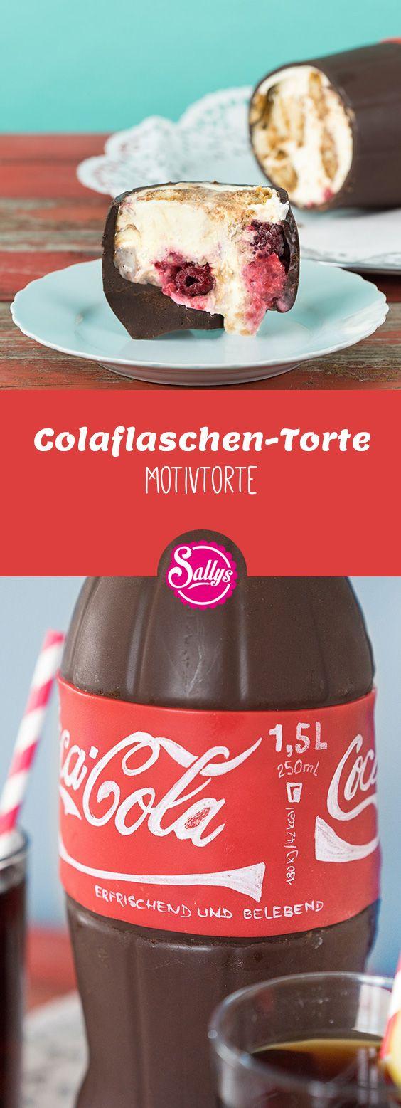 So genial: Schokoladenhohlkörper in Colaflaschen-Form gefüllt mit Tiramisu. Ein No Bake Cola Bottle Cake!