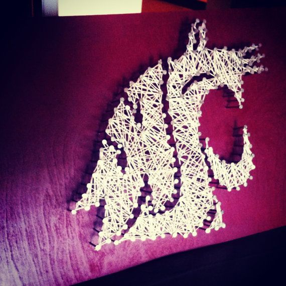 WSU String Art  Washington State University by kimberlygeer, $45.00