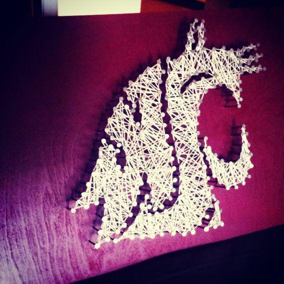 WSU String Art Washington State University by kimberlygeer, $45.00