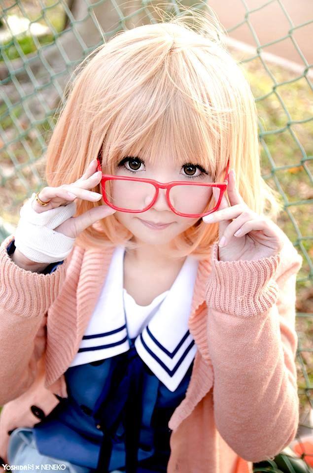 Kuriyama Mirai | Kyoukai no Kanata #cosplay #anime --I just started watching this! Figured I'd pin it since its sooo good!