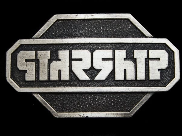 MH17166 VERY COOL VINTAGE 1977 ***STARSHIP*** (BAND) MUSIC BELT BUCKLE #BergamotBrassWorks #MusicIndustryPerformers