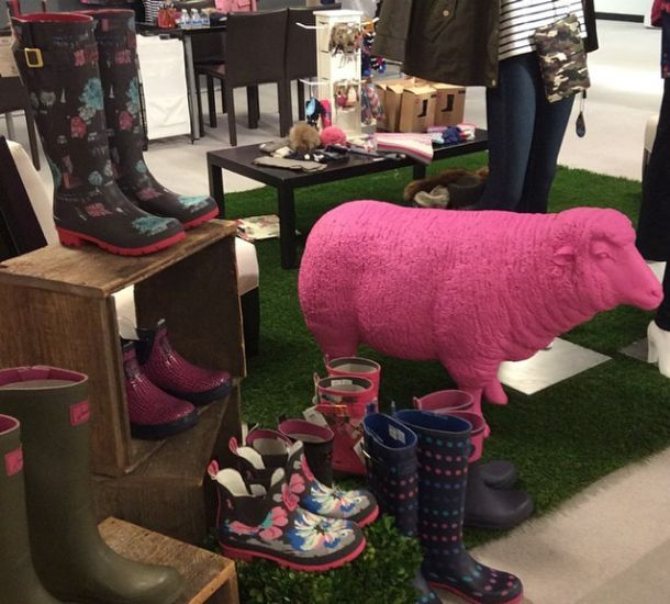 Here's another sneak peek at a new line of rain boots by Joules USA that would will see in our stores very soon!