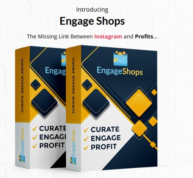 EngageShops Instagram Monetize Software by Sam Robinson