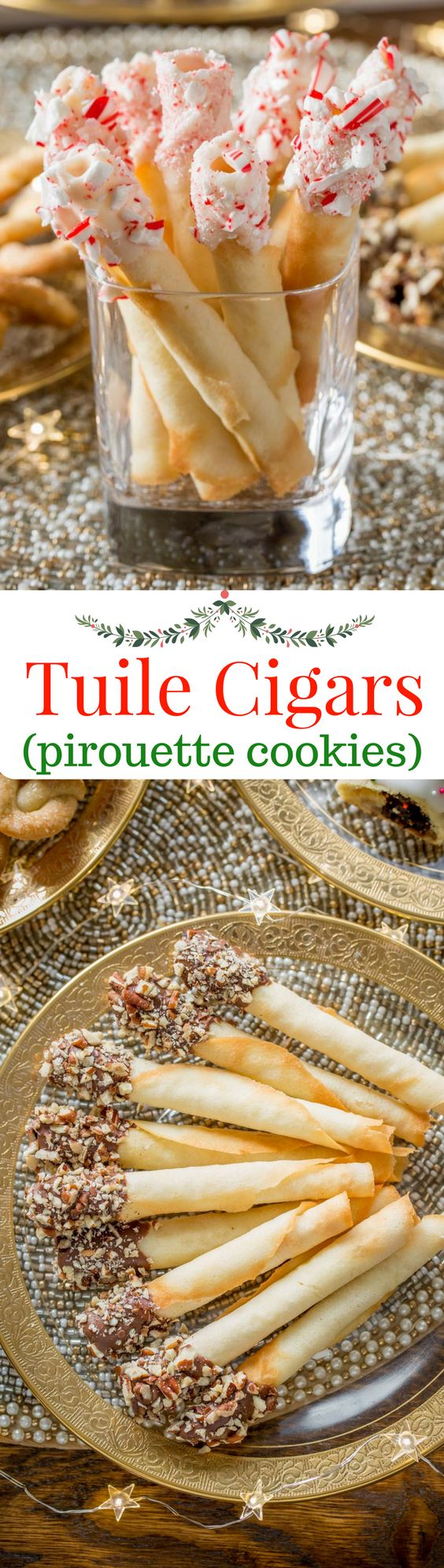 Tuile Cigar Cookies, also known as pirouettes, are crisp, delicate little cookies with a perfect vanilla flavor and buttery crunch. www.savingdessert.com