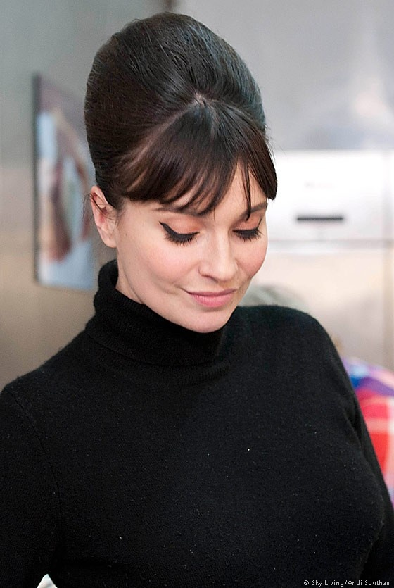 Gizzi Erskine rocking the 60s look.