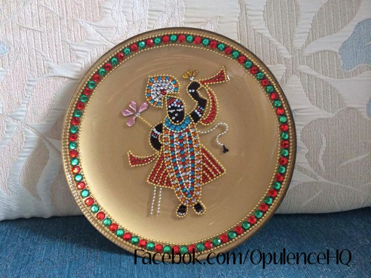 17 best puja essentials handicrafts images on pinterest for Aarti thali decoration with grains