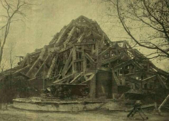 1909. Készül az Állatkerti kőszikla