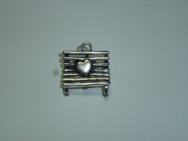 little Pendants - bench with heart by AzraelWest on Etsy