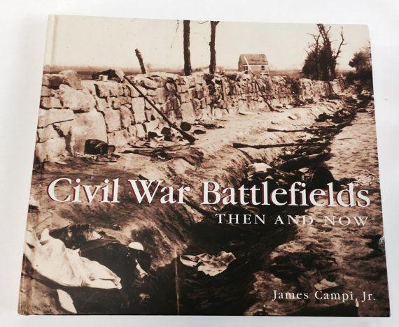 Civil War Battlefields then and Now. Vintage by VintageBookworms