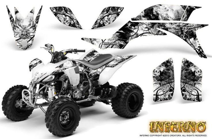 Yamaha yfz 450 03 13 atv graphics kit decals stickers creatorx inferno white