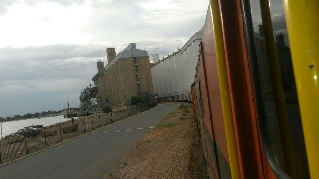 Loading Wheat at Port Pirie South Australia.
