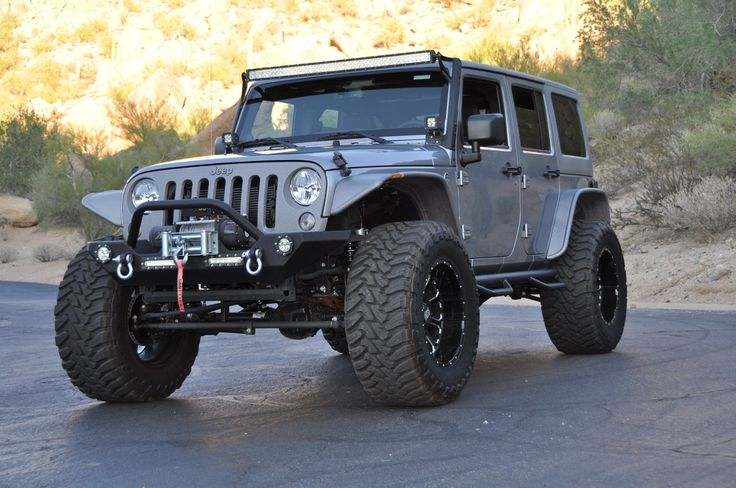 2014 #Jeep Wrangler Custom 4×4 - #Lease with Premier, #Russo&SteeleAuction #ScottsdaleAuctions, #Silver, (Image, Source russoandstele.com #5090)