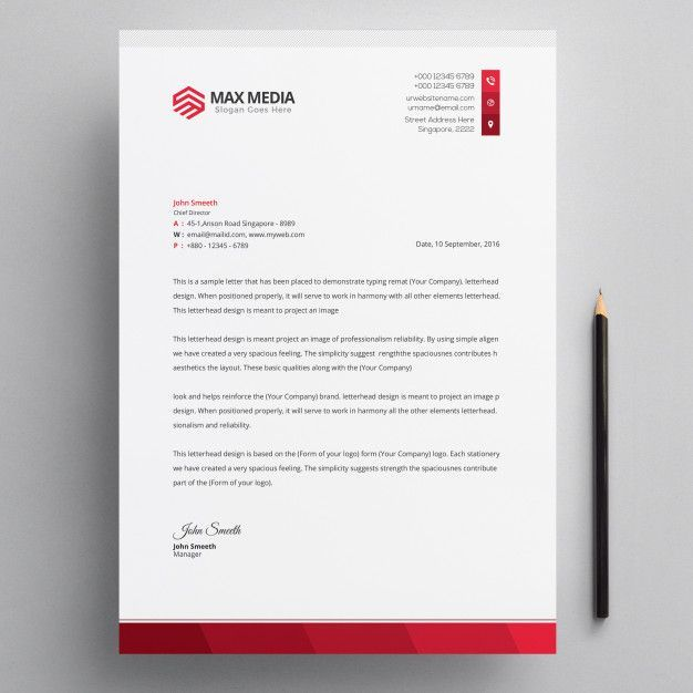 Business Letter On Letterhead from i.pinimg.com