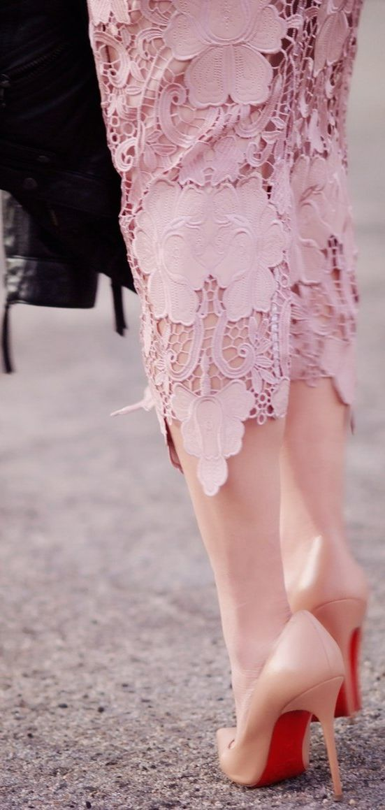 From Day To Night. Pink lace skirt