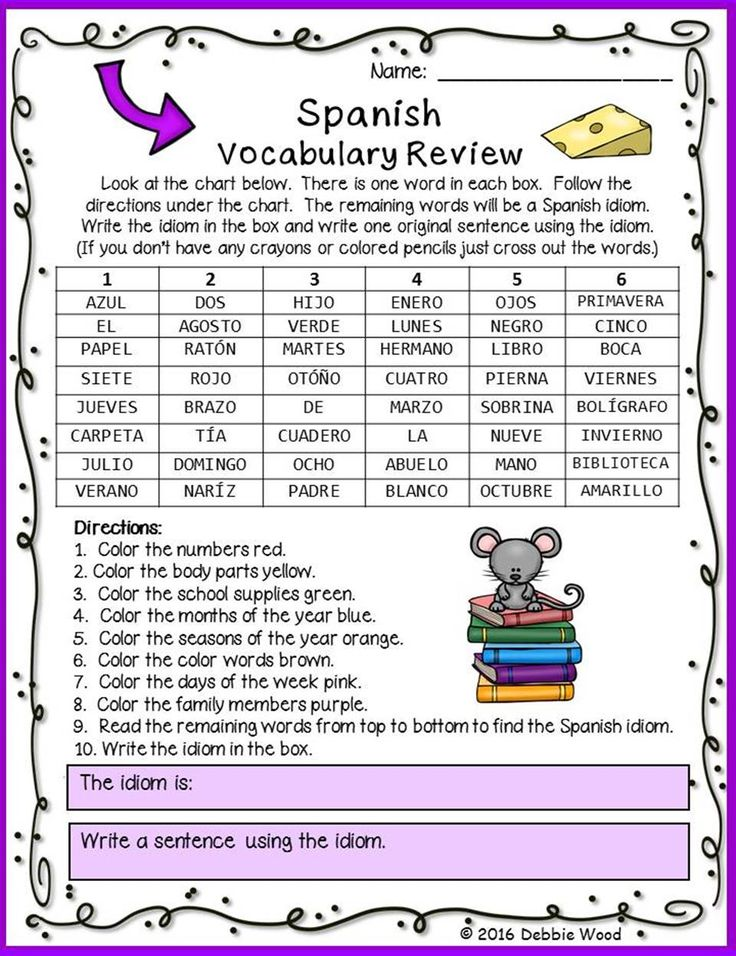 spanish back to school activities vocabulary and grammar review grammar review spanish and. Black Bedroom Furniture Sets. Home Design Ideas