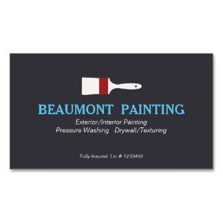 Logo de peintre de Chambre Carte De Visite Standard