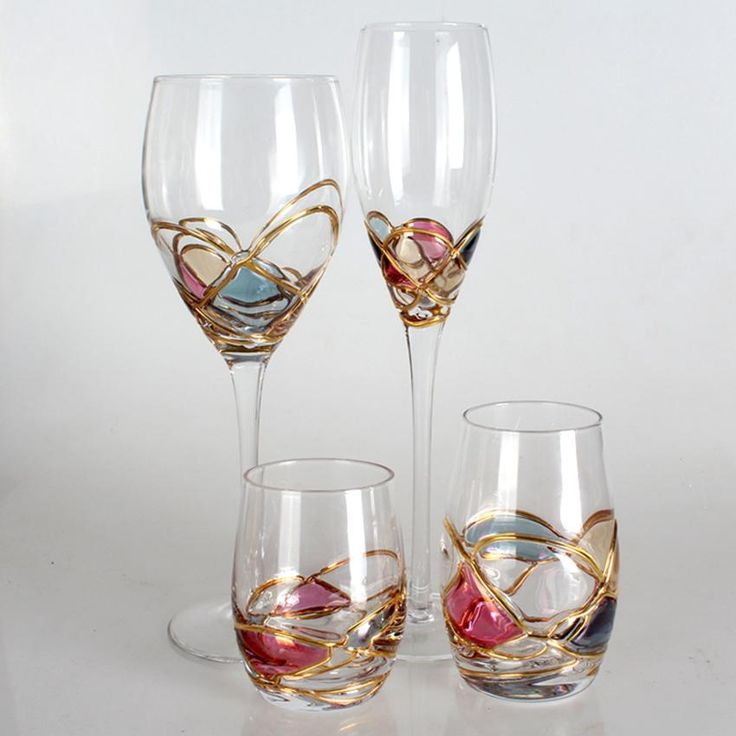 Luxury Goblet Champagne Flute Glass Crystal cup Red Wine Glasses