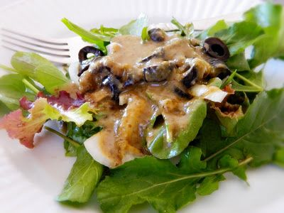 salad dressing with olives, capers, garlic...sounds great