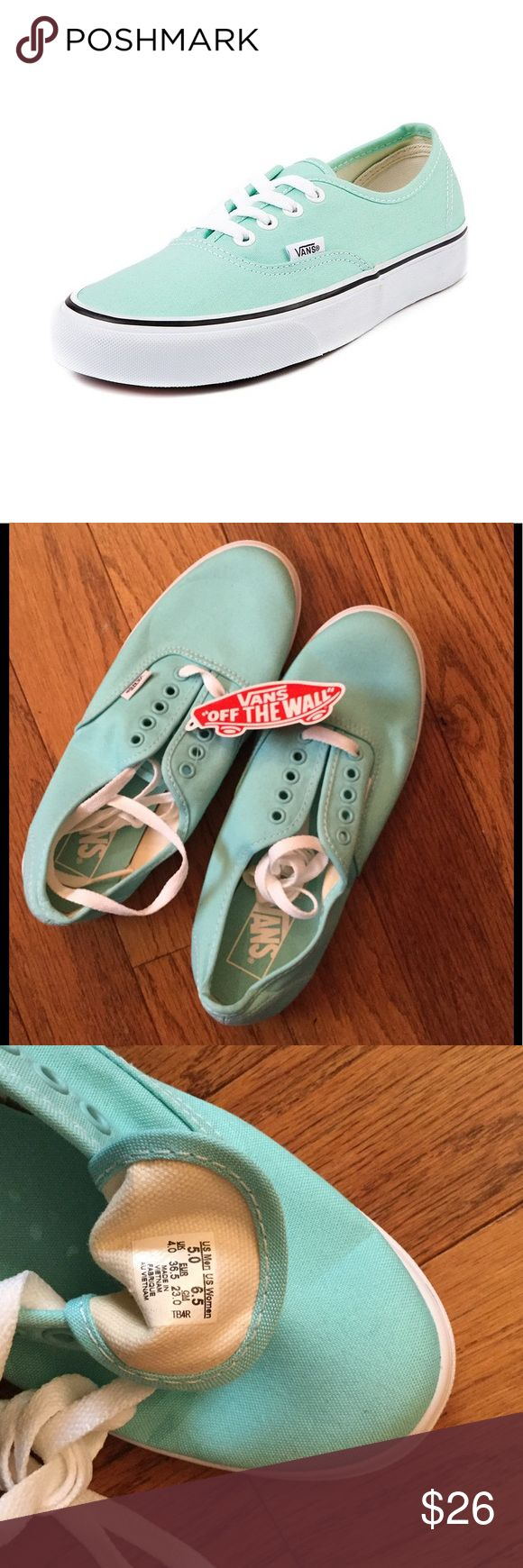 Mint Green Girls Vans Brand New Mint Green Vans, with tags and everything! Vans Shoes Sneakers
