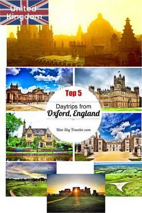 Oxford makes a great home base to explore England's beautiful palaces, villages and history.  Here are 5 ideas for venturing out on day trips from Oxford city of Dreaming Spires.