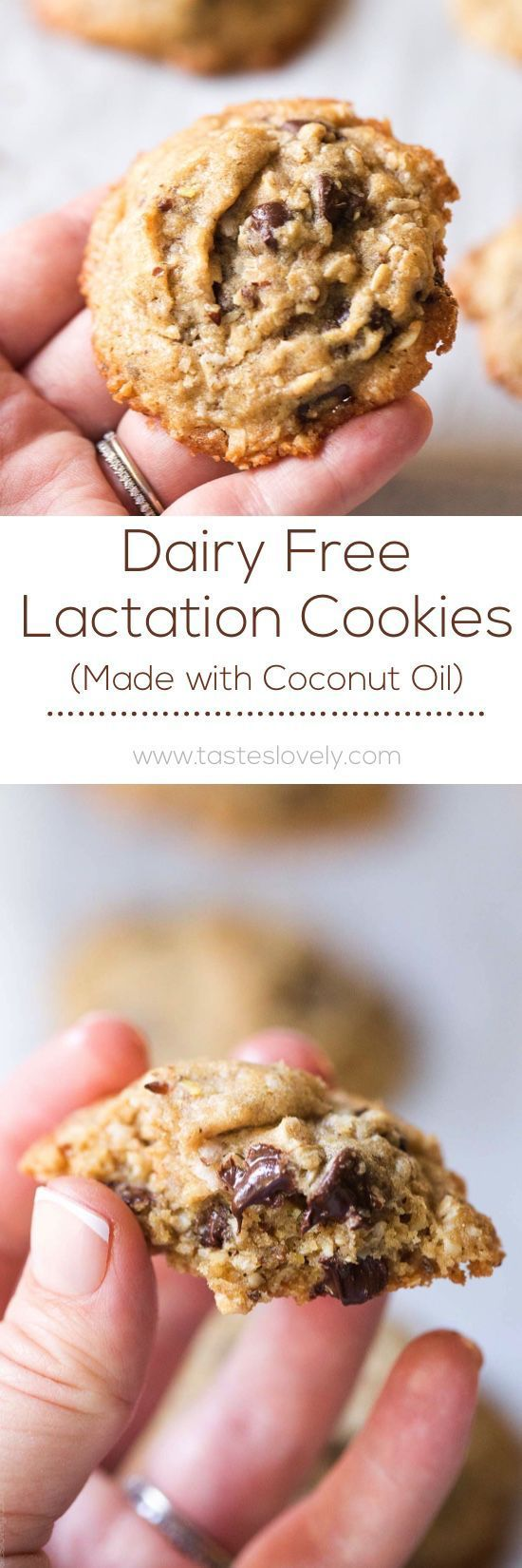 Dairy Free Lactation Cookies made with Coconut Oil. Delicious, and increases your milk supply when breastfeeding!