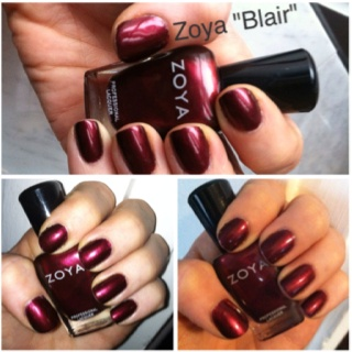 My current nail polish obsession: Blair by Zoya! Gorgeous deep garnet shimmer.