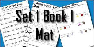 BOB Books Printables: Set 1 Book 1 Mat & 2 Sam - 3Dinosaurs.com