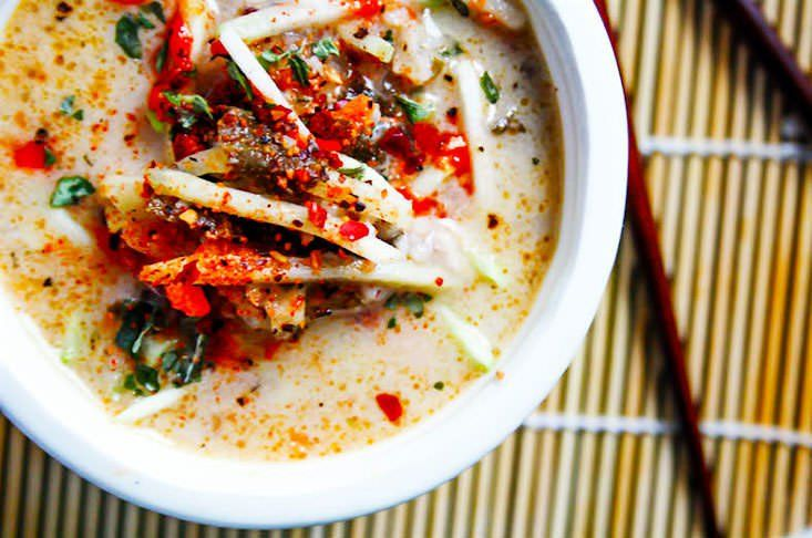 Thai Soup (with cabbage and coconut)