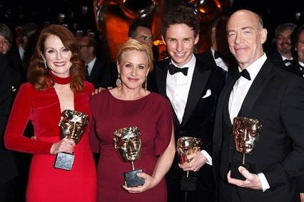 2015 - BAFTA winners: Julianne Moore,  Patricia Archette, Eddie Redmayne, J.K. Simmons
