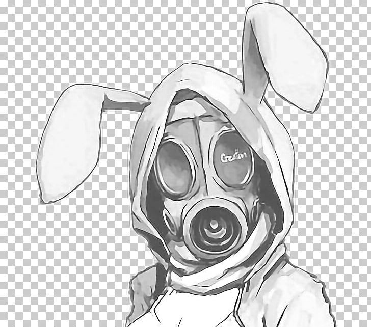 Gas Mask Bunny Drawing Png Art Artwork Automotive Design Black And White Cartoon Gas Mask Drawing Gas Mask Art Gas Mask Tattoo