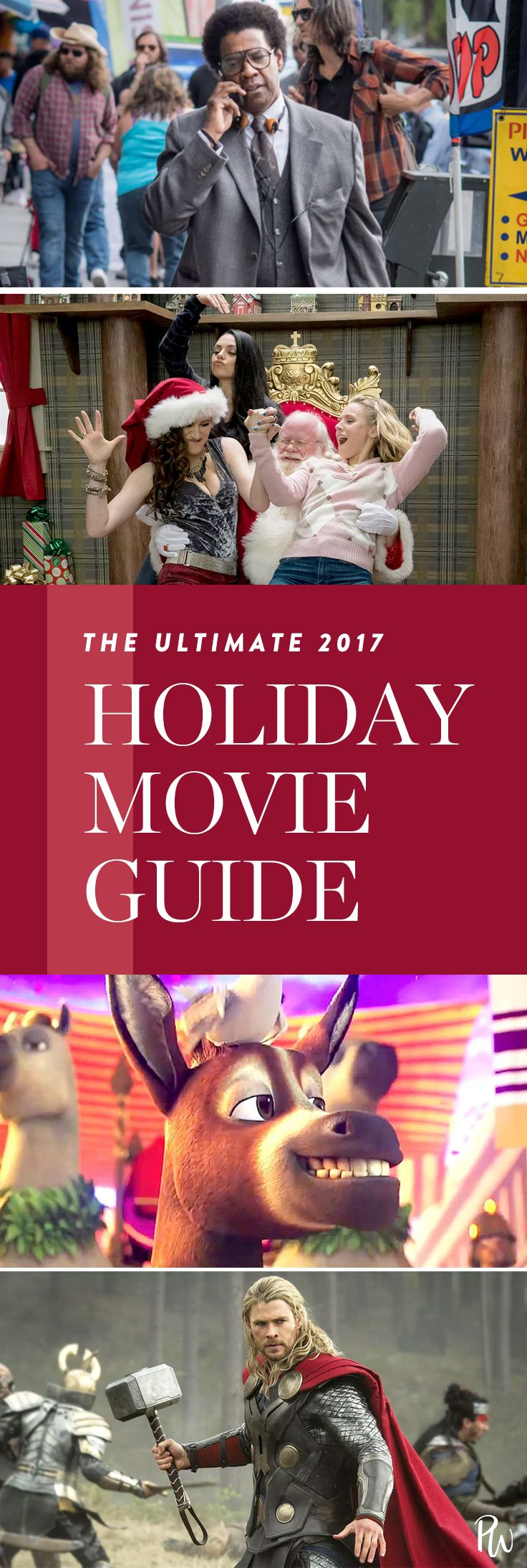 Get the ultimate holiday movie guide here (and grab some popcorn). #holidaymovies #movies #movielists