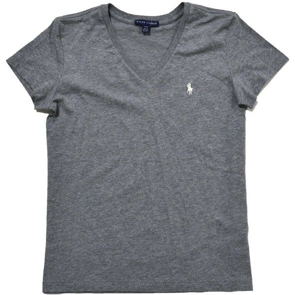 Ralph Lauren Women's Sport V-Neck T-Shirt ($20) ❤ liked on Polyvore featuring tops, t-shirts, sports t shirts, sports tops, vneck tops, vneck tee and ralph lauren t shirts