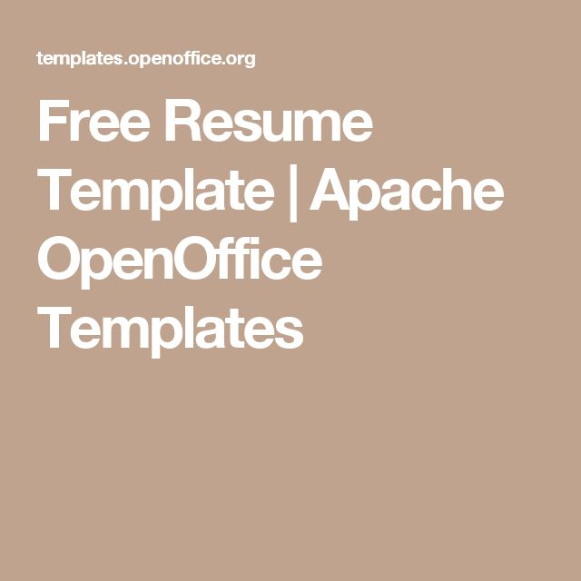 free resume template open office