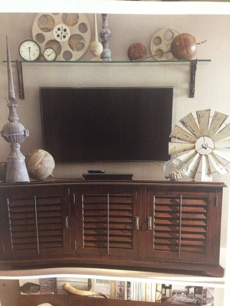 Wall Decoration Above Tv : Tv wall decor potterybarn mission redeco the home