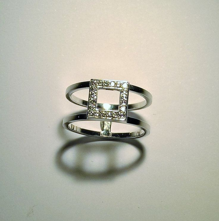 Truscelli Joailliers or gris 18 kt et diamants