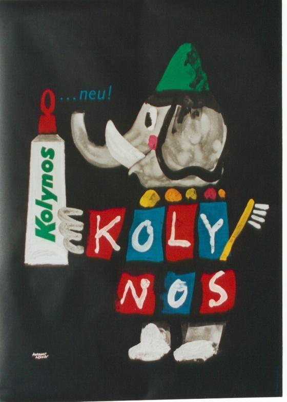 Original Vintage Poster Kolynos Toothpaste Elephant 60 | eBay